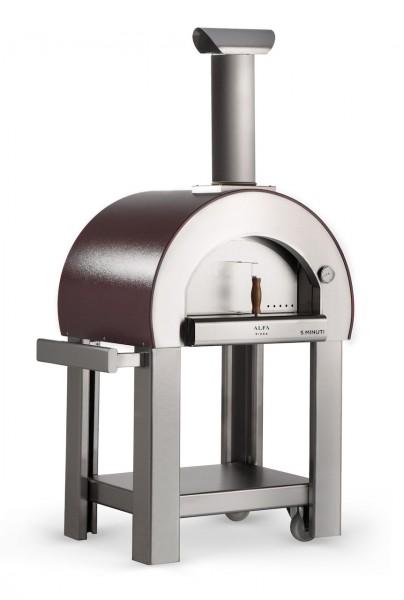 Alfa Pizzaofen 5 Minuti mit Stand (Kupfer)