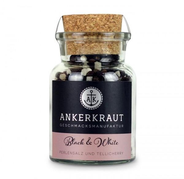 Ankerkraut Black und White Pfeffer-Salz im Korkenglas