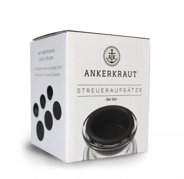 Ankerkraut Korkenglas Streuaufsatz (3er-Set)