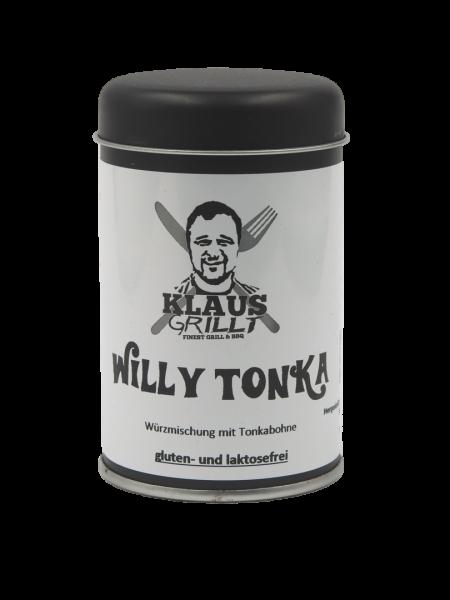 Klaus Grillt Willy Tonka im Streuer