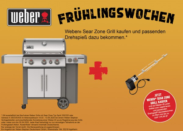 Weber Genesis II SP-335 GBS Gasgrill- Edelstahl